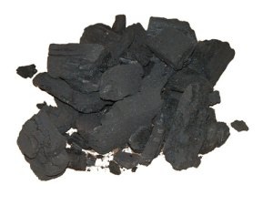 Pure hardwood charcoal, also called lump charcoal