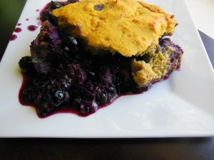 Blueberry Cobbler with coconut flour biscuit topping